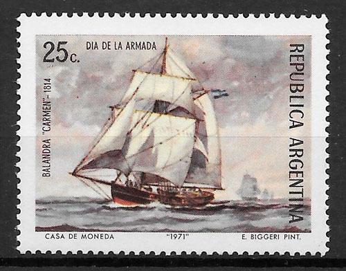 filatelia colección transporte Argentina 1971