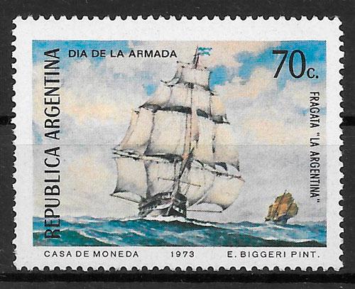 colección sellos transporte 1973