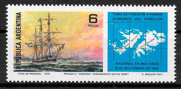 filatelia transporte Argentina 1975