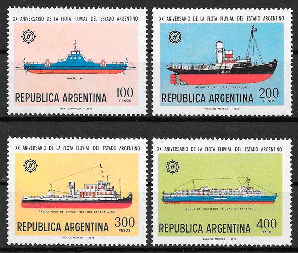filatelia transporte Argentina 1978