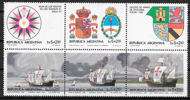 colección sellos transporte Argentina 1984