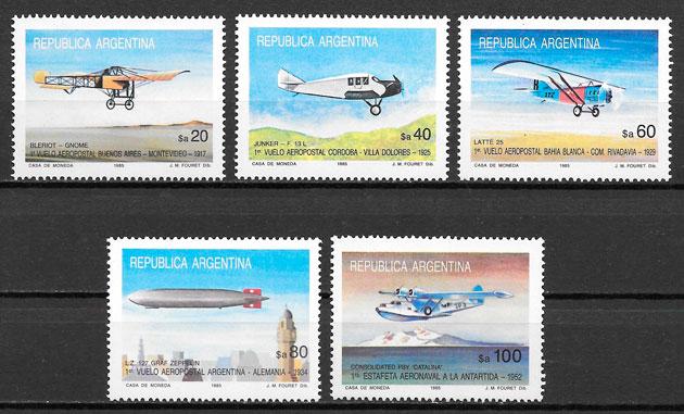 sellos transporte Argentina 1985