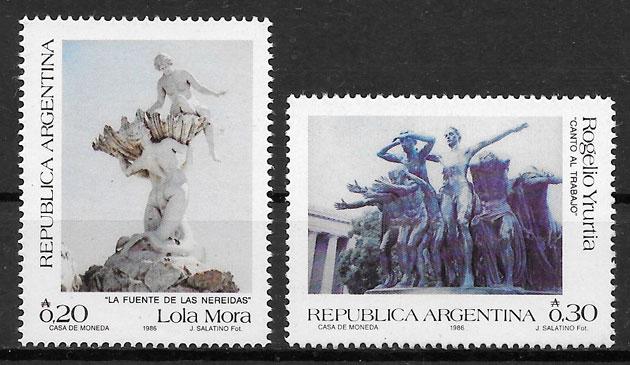 filatelia colección arte Argentina 1986