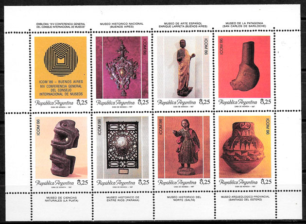 sellos arte Argentina 1987