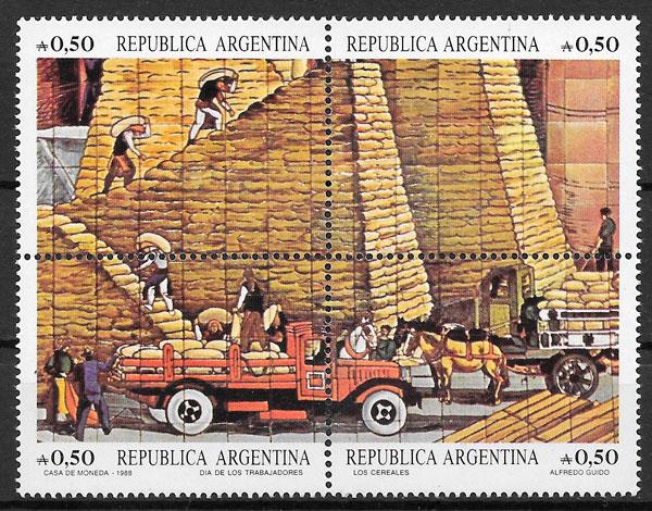 colección sellos arte Argentina 1988