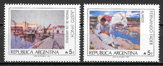 filatelia pintura Argentina 1989