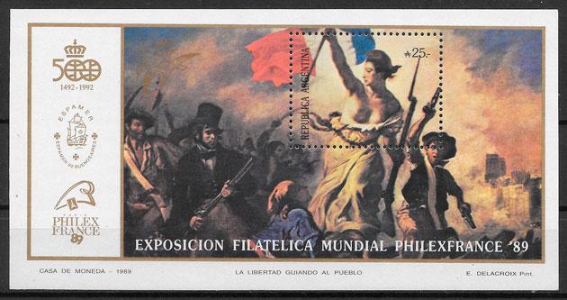 sellos pintura Argentina 1989