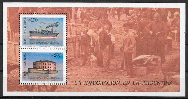 sellos transporte Argentina 1989