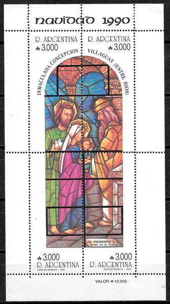 filatelia navidad 1989 Argentina