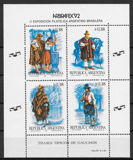 filatelia colección arte Argentina 1992