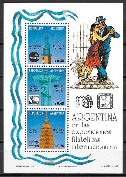filatelia colección arte Argentina 1993