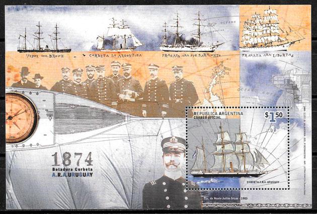 colección sellos transporte Argentina 1999