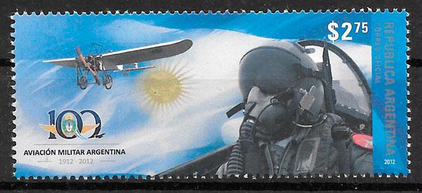 filatelia colección transporte Argentina 2012