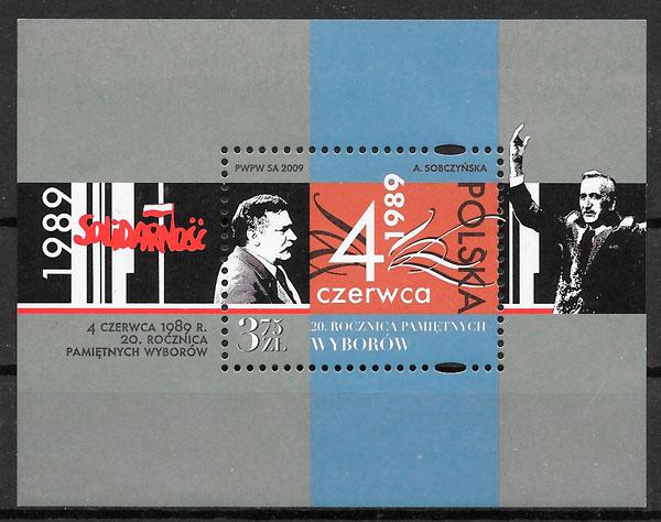 filatelia colección personalidad Polonia 2009