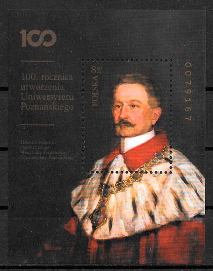 colección sellos personalidades Polonia 2019
