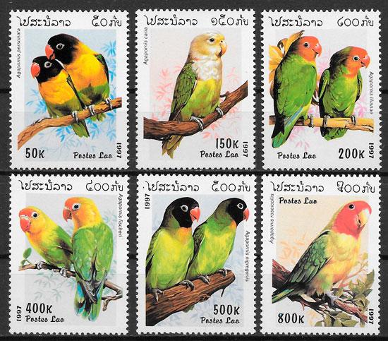 filatelia colección fauna Laos 1997