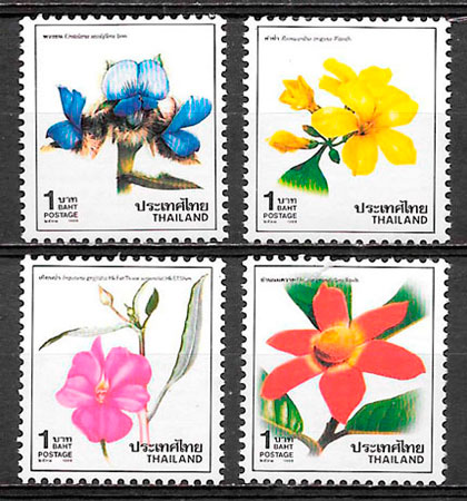 SELLOS FLORA TAILANDIA 1988