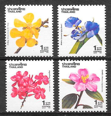 filatelia flora Tailandia 1995