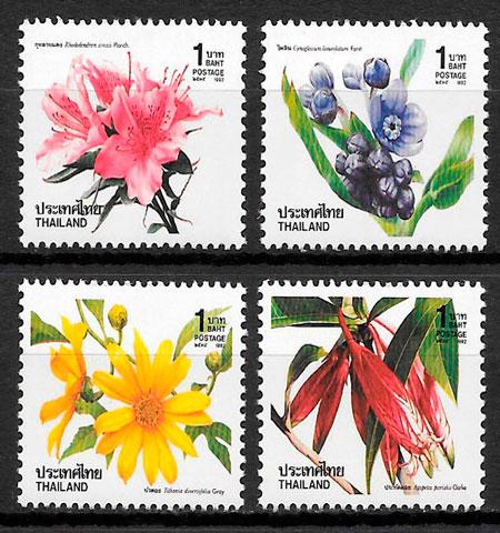 filatelia flora Tailandia 1992