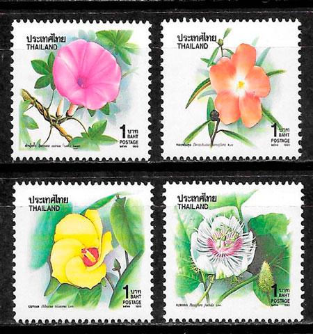 filatelia flora Tailandia 1993