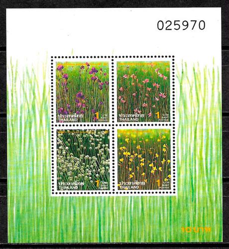 filatelia colección flora Tailandia 1994