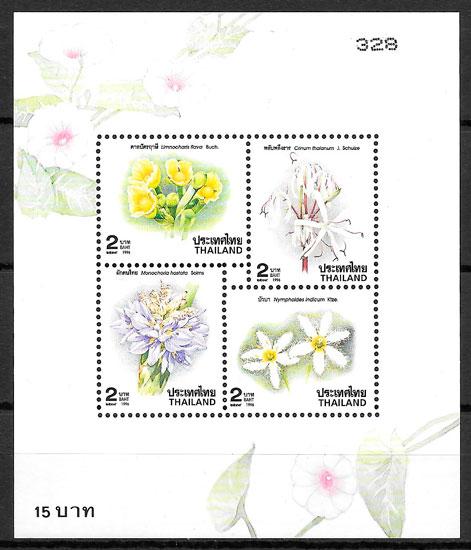 filatelia flora Tailandia 1996