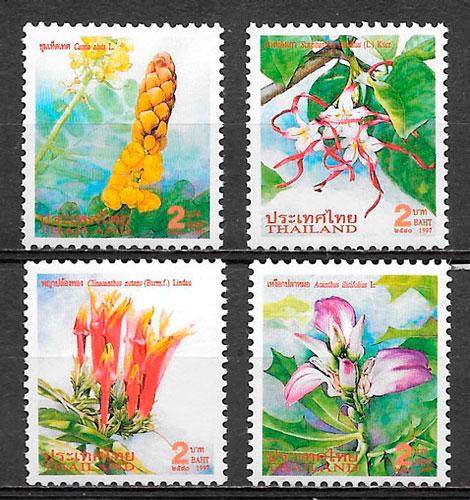 colección sellos flora Tailandia 1997