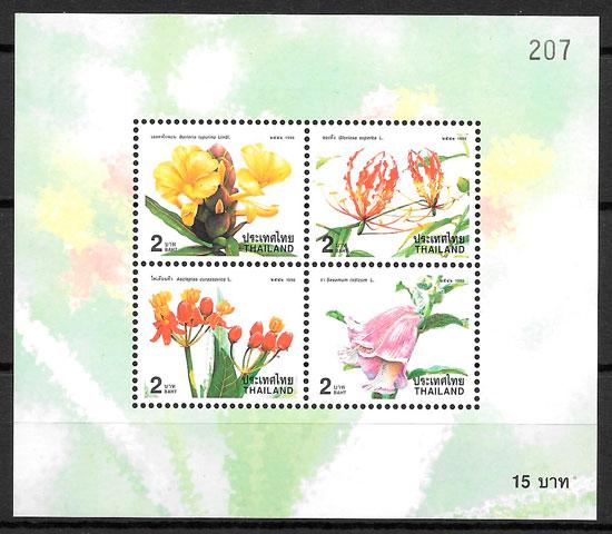 filatelia flora Tailandia 1998