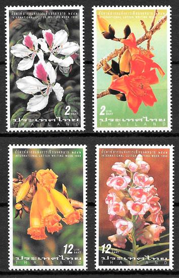 sellos flora Tailandia 1999