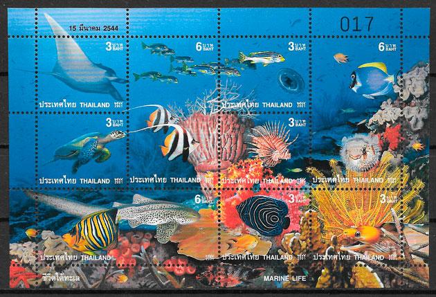 sellos fauna Tailandia 2001