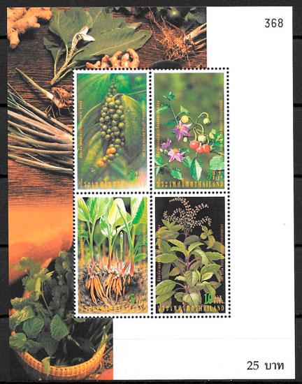 filatelia colección flora Tailandia 2001
