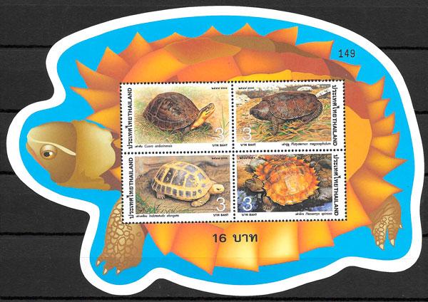 colección sellos fauna Tailandia 2004