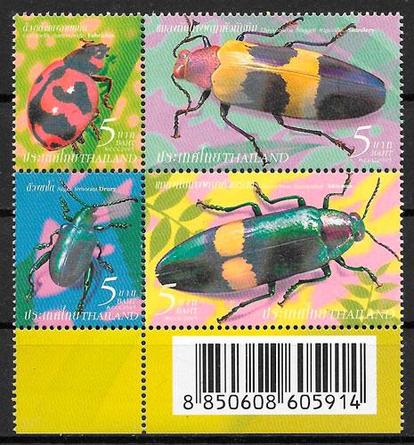 colección sellos fauna Tailandia 2005
