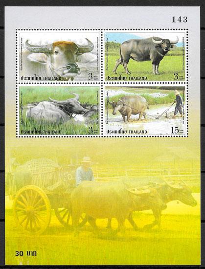 filatelia fauna Tailandia 2005