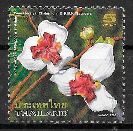 colección sellos flora Tailandia 2006
