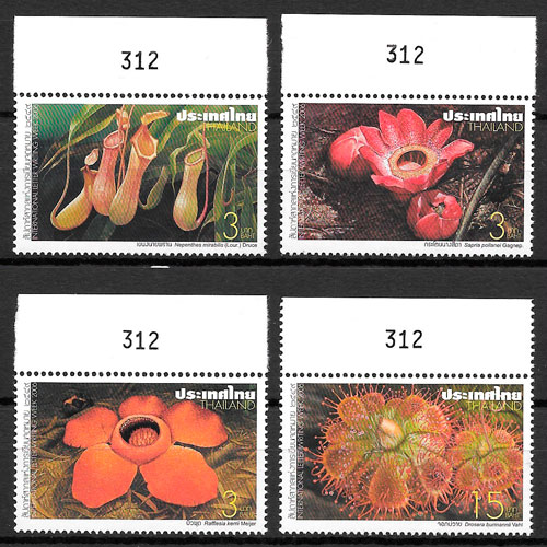 filatelia flora Tailandia 2006