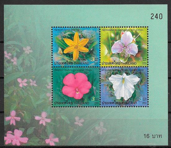 sellos flores Tailandia 2006