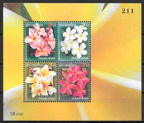 sellos flora Tailandia 2007