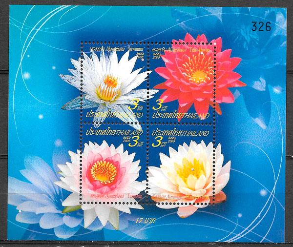 colección selos flora Tailandia 2008