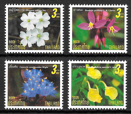 sellos flora Tailandia 2009