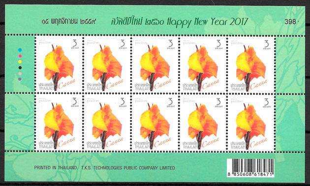 sellos flora Tailandia 2016