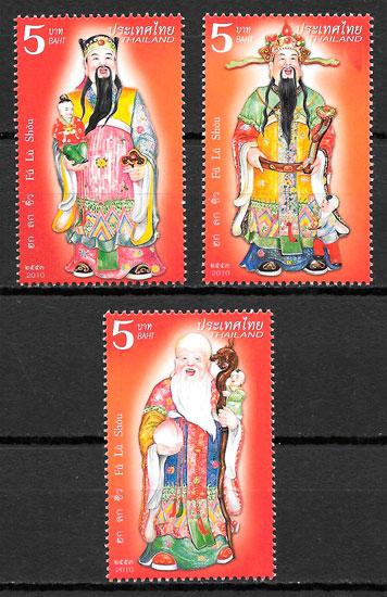 filatelia colección arte Tailandia 2010