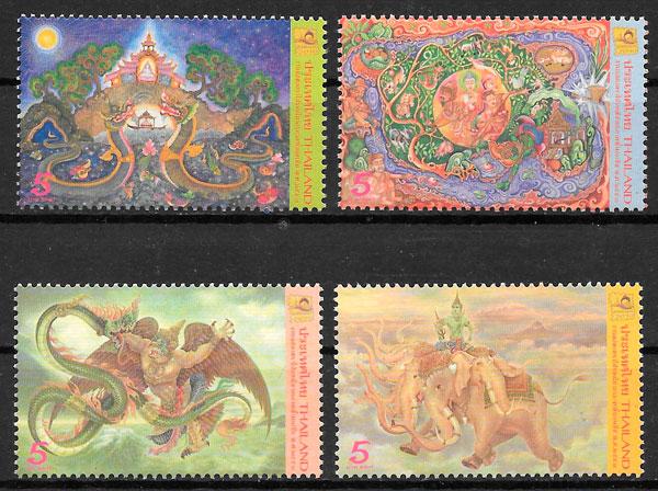 colección sellos arte Tailandia 2010
