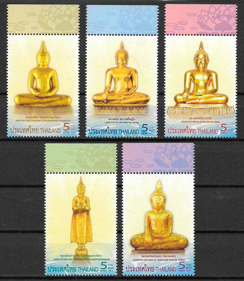 colección selos arte Tailandia 2012
