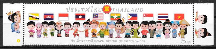 filatelia arte Tailandia 2013