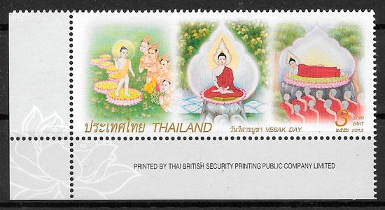 filatelia colección arte Tailandia 2013