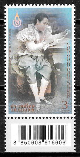 colección sellos personalidad Tailandia 2014