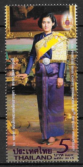colección sellos personalidad Tailandia 2015