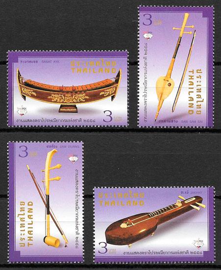 colección sellos Tailandia arte 2015