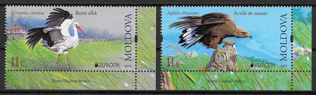 sellos Europa Moldavia 2019
